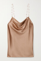 Thumbnail for your product : CAMI NYC The Busy Pearl-embellished Silk-blend Charmeuse Camisole