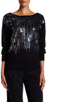 Trina Turk Embellished Sequin Sweater