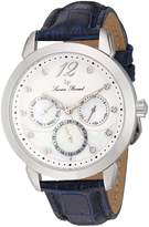 Lucien Piccard Women's 'Rivage' Quartz Stainless Steel and Leather Casual Watch, Color: Blue (Model: LP-40038-02MOP-BLS)