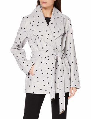 Yumi Women's Spot Print Wrap Coat