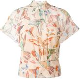 RED Valentino hummingbird print blouse - women - Polyester/Silk - 40