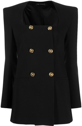Versace Double-Breasted Structured Blazer