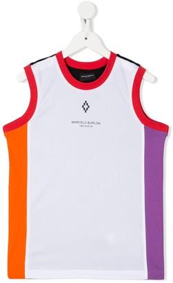 Marcelo Burlon County Of Milan Kids color-block tank T-shirt