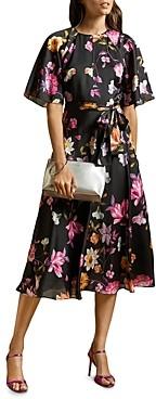Ted Baker Ossiee Rhubarb Print Tea Dress