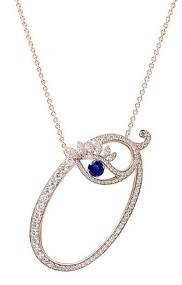 Tabayer Eye 18K Rose Gold, Sapphire & Diamond Optimistic Pendant Necklace