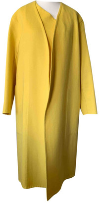 Hermes Yellow Cashmere Coats