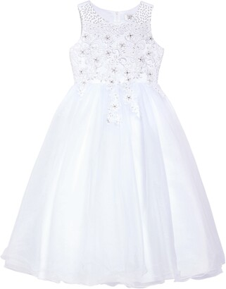 Us Angels Lace Applique Tulle Communion Dress