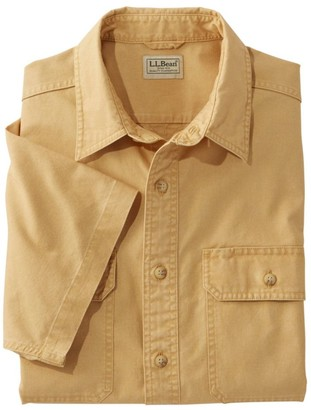 L.L. Bean Men's Sunwashed Canvas Shirt, Traditional Fit Short-Sleeve