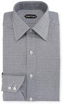 Tom Ford Tattersall Cotton Dress Shirt, Blue