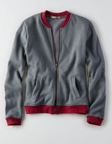 American Eagle Don't Ask Why Zip-up Bomber Sweatshirt