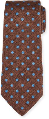 Kiton Men's Polka Dot Silk Tie