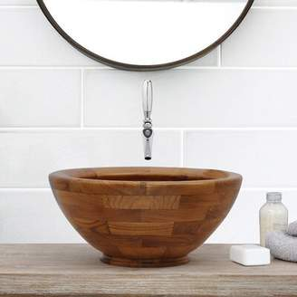 Antigua Barclay Circular Vessel Bathroom Sink Barclay Sink Finish: Teak