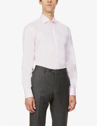 Corneliani Classic-fit cotton-twill shirt