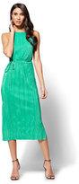 New York & Co. Pleated Midi Halter Dress