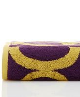 Natori Geo Bath Towel - Black Purple/Ochre