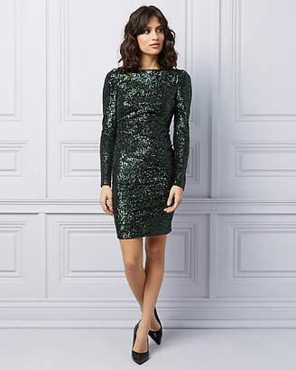 Le Château Long Sleeve Sequin Cocktail Dress