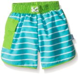 I Play I-Play Boys' Pocket Board Shorts with Built-In Reusable Absorbent Swim Diaper