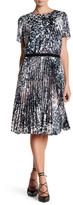 Karen Millen Marble Print Pleat Dress