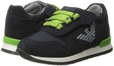 Armani Junior Sneaker with Green Detailing Boy's Shoes