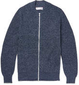 Brunello Cucinelli - Slim-fit Mélange Cotton Zip-up Cardigan