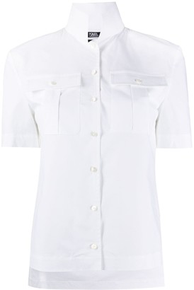 Karl Lagerfeld Paris high collar shirt