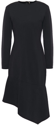 Black Halo Maddox Asymmetric Stretch-jersey Dress