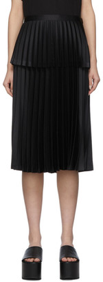 Noir Kei Ninomiya Black Double-Layer Pleated Skirt