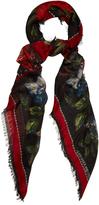 Alexander McQueen Floral-print silk-blend scarf