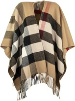 Burberry Check Wool Cashmere Cape