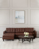 Old Hickory Tannery Barnes Leather Left-Arm Chaise Sectional