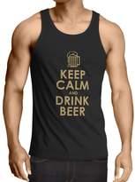 lepni.me N4166V Vest Keep Calm and Drink BEER gift ( Blue White)