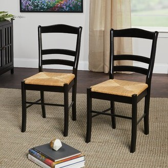 Lucrezia Ladder Back Side Chair Bay Isle Home Color: Black