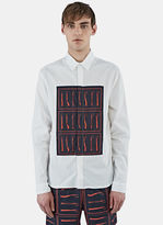 J.w. Anderson Men's Tool Print Panel Shirt In White
