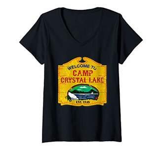 Womens Camp Crystal Lake V-Neck T-Shirt