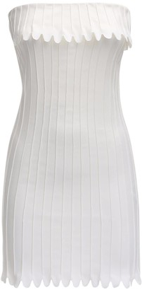 Coperni Bustier Stretch Cotton Mini Dress