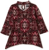 Xtraordinary Big Girls 7-16 Floral-Print Bell-Sleeve Top