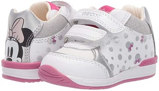 Geox Kids Rishon 23 Minnie Mouse (Infant/Toddler) (White/Silver) Girl's Shoes
