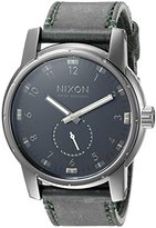 Nixon Men's A9382072 Patriot Stainless Steel Watch with Gray Band