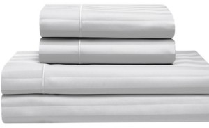 Elite Home Cooling Cotton Satin Stripe Full Sheet Set Bedding