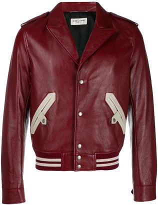 Saint Laurent Notched Collar Bomber Jacket