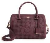 Kate Spade Cameron Street - Large Lane Leather Satchel - Purple