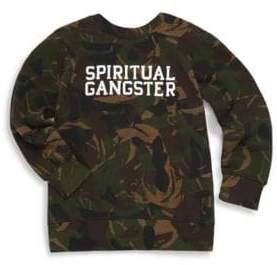 Spiritual Gangster Little Girl's & Girl's Varsity Camo Sweatshirt