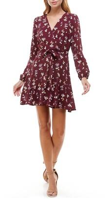 Rowa Long Sleeve Godet Dress