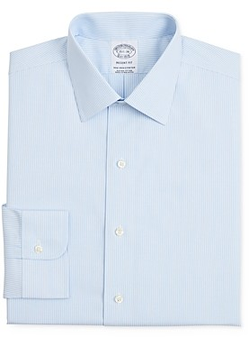 Brooks Brothers Fine Line Regular Fit Dress Shirt