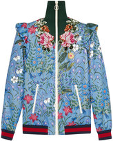 Gucci Embroidered New Flora print jersey jacket
