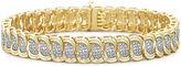 JCPenney FINE JEWELRY Diamond Bracelet 1/10 CT. T.W. 14K/Silver