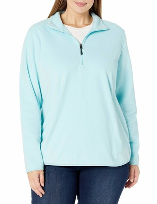 Amazon Essentials Women's Plus Size Long-Sleeve Quarter-Zip Polar Fleece Jacket