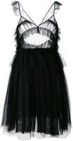 MSGM ruffled tulle mini dress