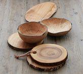 Pottery Barn Natural Wood Fruit Bowl