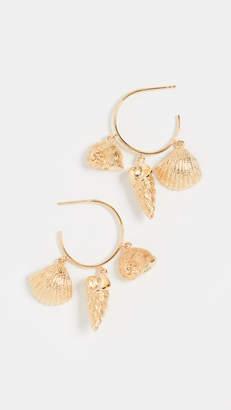 Aurelie Bidermann Hoop Multi Shell Earrings
